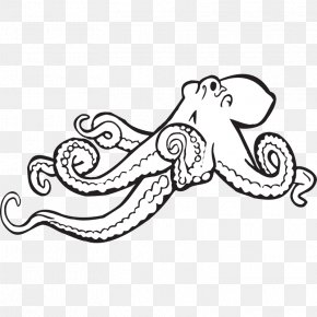 Make A Coloring Book - Octopus Black And White Monochrome Clip Art PNG