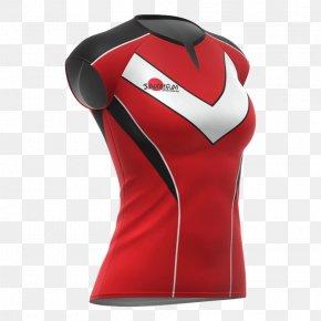 Netball - T-shirt Jersey Sleeve Sportswear Top PNG
