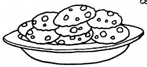 Cookie Cliparts Free - Black And White Cookie Chocolate Chip Cookie Biscuit Clip Art PNG