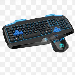 Mechanical Keyboard Black And Blue Buckle Free Photos - Computer Keyboard Computer Mouse Numeric Keypad Space Bar Gaming Keypad PNG