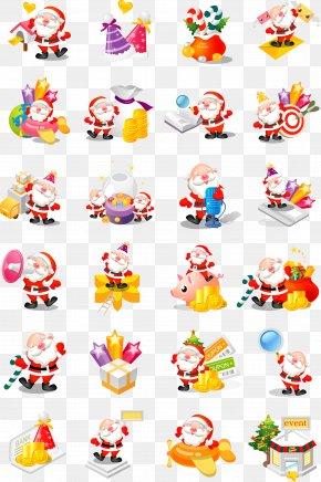 Cartoon Christmas Vector Elements - Santa Claus Christmas PNG