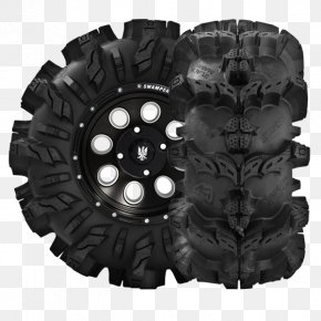 Black Tire - Car Side By Side All-terrain Vehicle Tire Rim PNG