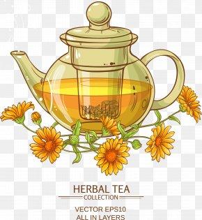 Large Chrysanthemum Tea - Chrysanthemum Tea Flowering Tea Calendula Officinalis PNG