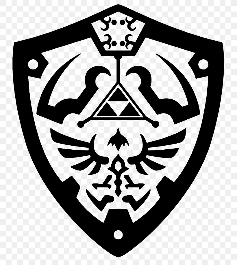 The Legend Of Zelda: Breath Of The Wild Princess Zelda Link The Legend Of Zelda: Ocarina Of Time The Legend Of Zelda: Skyward Sword, PNG, 768x919px, Legend Of Zelda Breath Of The Wild, Black And White, Decal, Emblem, Hylian Download Free