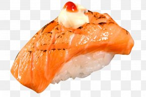Sushi Rice Dough Fried Meat - California Roll Sashimi Sushi Japanese Cuisine Smoked Salmon PNG
