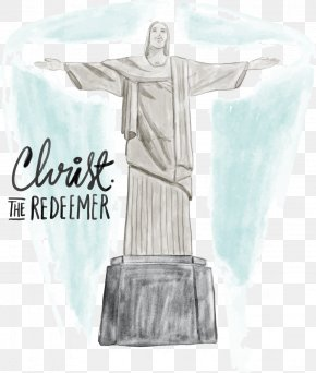 Ink Jesus Statue - Christ The Redeemer Corcovado Download Statue PNG