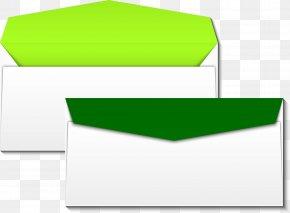 Vector Hand Painted Green Envelope - Paper Green Envelope PNG