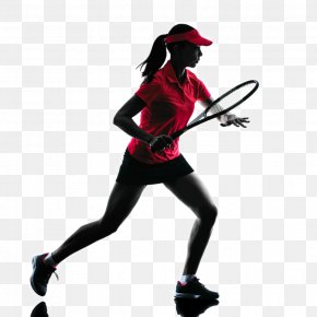 Tennis Player Backlit Photo - Tennis Player Silhouette Sport PNG