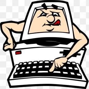 Pictures Of People On The Computer - Computer Keyboard Animation Clip Art PNG