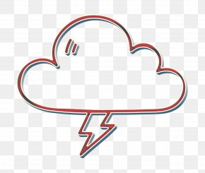Heart Weather Icon - Cloud Icon Lightening Icon Storm Icon PNG