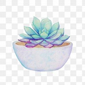 Watercolor Painting Pastel Succulent Plant Clip Art PNG