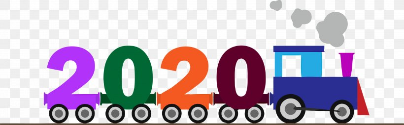 Happy New Year 2020 Happy 2020 2020 Png 3000x934px 2020