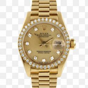 Watch - Rolex Datejust Watch Panerai Gold PNG
