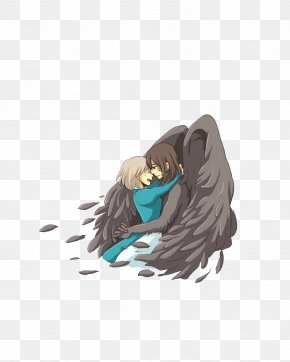 Hand Drawn Angel Lover - Howls Moving Castle Wizard Howl Calcifer Sophie Hatter Studio Ghibli PNG