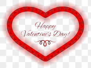 Happy Valentines Day Heart PNG Clipart Image - Valentine's Day Heart Clip Art PNG