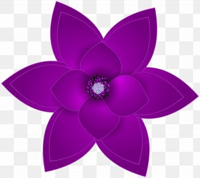 Purple Deco Flower Transparent Clip Art Image - Purple Flower Clip Art PNG
