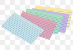 Cards - Paper Index Cards Clip Art PNG