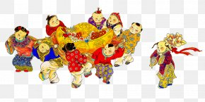 China Doll Play - China Chinese New Year New Year Picture Doll PNG