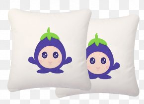 Cute Little Eggplant - Eggplant Jam Pillow Dakimakura PNG