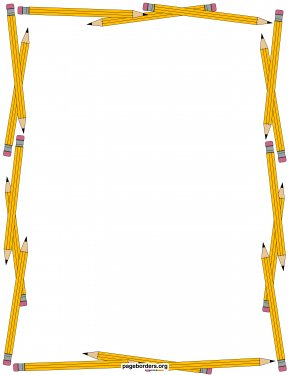 Pencil Frame Cliparts - Orchard Hill Elementary School Pencil Education Clip Art PNG
