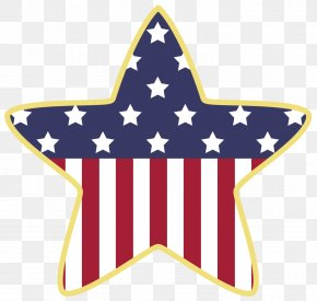 American Star Decoration Clipart - Flag Of The United States Star Clip Art PNG