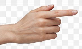 Tuching Hand With Finger Clipart Image - Hand Index Finger Clip Art PNG