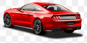 Ford Mustang Red Car Back Side - 2015 Ford Mustang GT Ford GT Car Shelby Mustang PNG