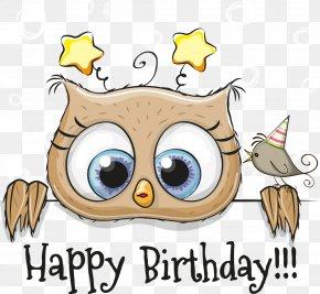 Vector Cartoon Owl - Owl Bird Beak Clip Art PNG