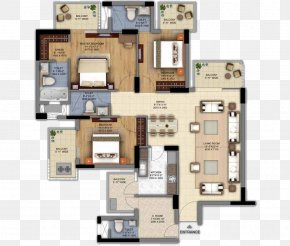 Floor Lawn - The Ultima DLF Floor Plan House PNG