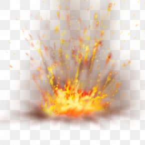 Explosion - Yellow Close-up Computer Wallpaper PNG