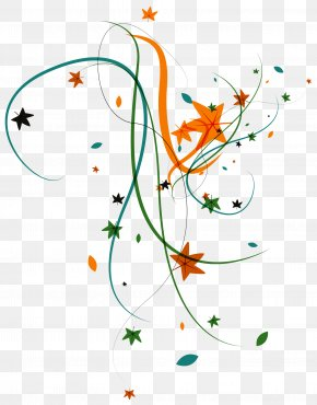 Plant Stars Ribbon Vector - Leaf Euclidean Vector Floral Design PNG