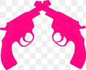Pink Gun Cliparts - Firearm Pistol Revolver Clip Art PNG