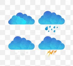 Blue Clouds - Cloud Rain Euclidean Vector PNG