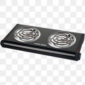 Black Gas Stove - Buffet Black & Decker Kitchen Stove Cooking Gas Burner PNG