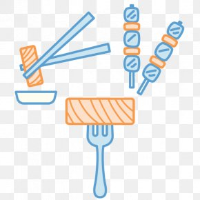 Vector Kebab Fork Into The Meat - Kebab Barbecue Agneau Meat PNG