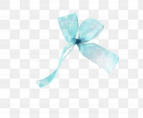 Fresh Blue Ribbon - Ribbon Blue Gift Plastic PNG