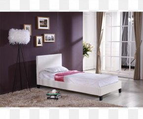 Single Bed - Bed Frame Foot Rests Couch Mattress PNG