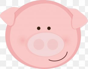 Pretty Pig Cliparts - Pig Mouth Snout Cartoon Illustration PNG