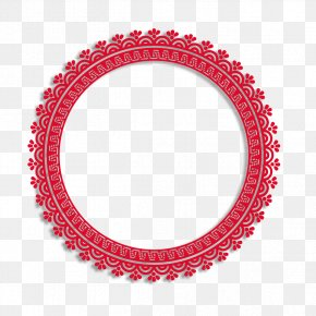 Chinese Paper-cut Style Circle - Company Seal Industry Service PNG