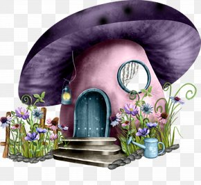 Mushroom House - Fairy House PNG