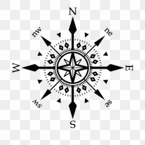 Transort - Sticker Compass Rose Wall Decal Business PNG
