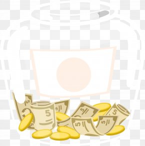 Creative Money In A Transparent Glass Bottle - Glass Bottle Glass Bottle Transparency And Translucency PNG