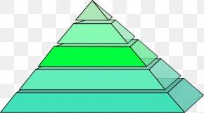Pyramid - Square Pyramid Triangle Shape Clip Art PNG