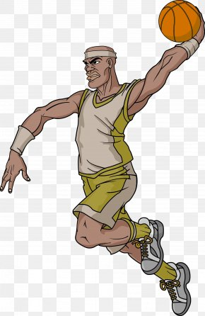 Basketball Player - NBA Basketball Cartoon Character PNG