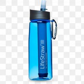 Water Bottle - Water Filter LifeStraw Drinking Water Bottle Water Purification PNG