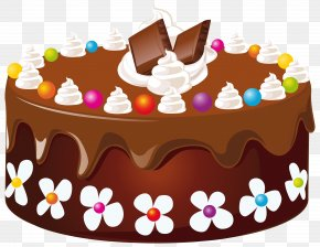 Chocolate Cake Clipart Image - Birthday Cake Chocolate Cake Icing Clip Art PNG