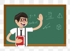Cartoon Math Male Teacher - Teachers Day Student Education PNG