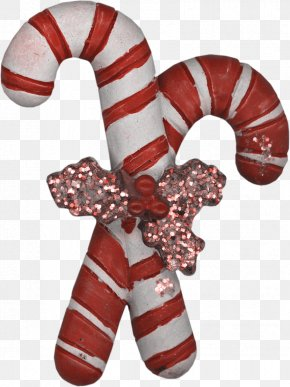 Christmas Gift Sugar - Candy Cane Lollipop Christmas Gift PNG