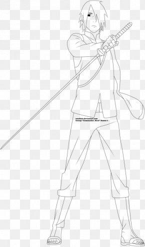Drawing Sasuke Uchiha - Line Art Figure Drawing White Sketch PNG