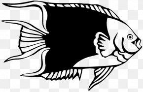 Angelfish Cartoon - Wall Decal Sticker Polyvinyl Chloride PNG
